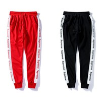 Supreme Fashion Casual Print Sport Pants Trousers Sweatpants