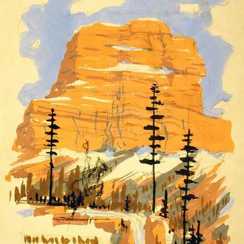 Welcome To Montana Travel Poster