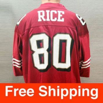 PEAPYD9 Vintage Jersey, Football, Jerry Rice Jersey, San Francisco 49ers, NFL, Nike, Size Adul