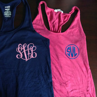 "Iron-on Monogram or Greek Letters for Shirts or Tank Tops 3"" and 4"""