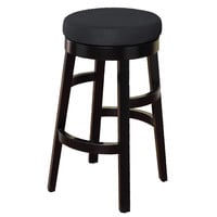 "Halo 26"" Barstool in Black Microfiber"