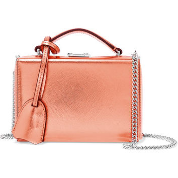 Mark Cross - Grace mini metallic textured-leather shoulder bag