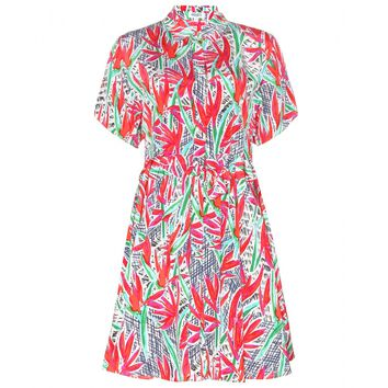 kenzo - printed silk shirt dress