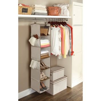 Better Homes and Gardens 6 Shelf Hanging Closet Organizer - Walmart.com