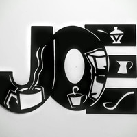 Joe Coffee Kitchen Decor Metal Wall Art