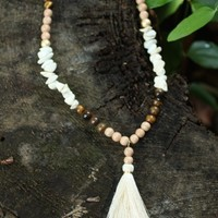 Bardi Long Chunky Tassel Necklace-Natural - New Arrivals