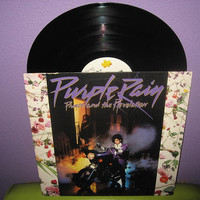 Vinyl Record Album Purple Rain Original by JustCoolRecords on Etsy