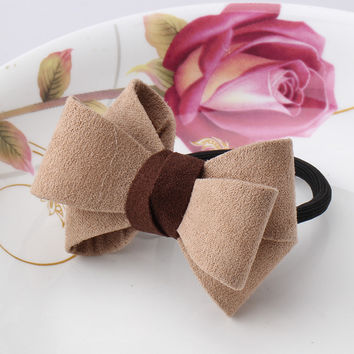 Hair Accessories 1 PC Women Flower Bow Elastic Hair Band Rope Scrunchie Ponytail Holder Plaid Big Bowknot Tie Hair Accessoy