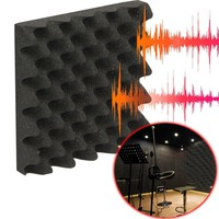 "Best Price 2"" x 10"" x 10"" Charcoal Acoustic Wedge Studio Foam Sound Noise Insulation Sponge"