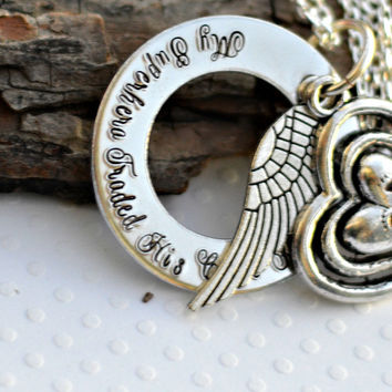 Baby Feet Infant memorial necklace angel wing silver jewelry prince jewelry personalized personalised jewellery baby jewelry estate memorial