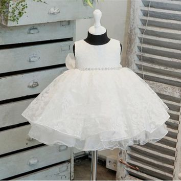 Girl Dress 0-2Years Baby Girl Clothes Summer Lace Flower Tutu Princess Kids Dresses For Girls Clothing Wedding Children Costume