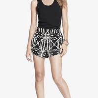 2 INCH BLACK AZTEC PRINT SOFT SHORTS from EXPRESS