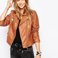 Pimkie Leather Look Biker Jacket