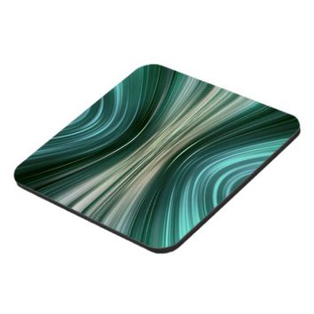 Glacier Green Driving Dreams Plastic Coasters