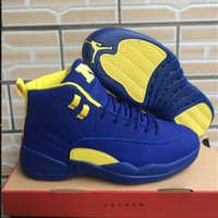 Air Jordan 12 Retro Blue/yellow Shoe Size 7 13 | Best Deal Online