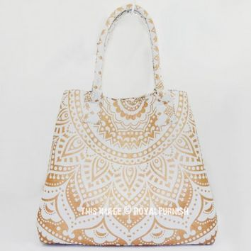 Sparkly Gold Designer Beach Bag for Women on RoyalFurnish.com