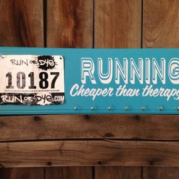 Running: Cheaper than Therapy Handmade Wooden Sign