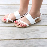 CHINESE LAUNDRY Marley White Sandals