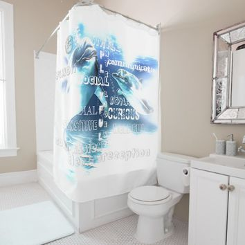 Incredible Dolphins Shower Curtain