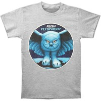Rush Men's  Fly By Night Heather Grey Slim Fit T-shirt Grey