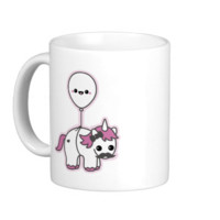 Cute Unicorn with Balloon Classic White Coffee Mug