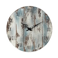128-1008 Wooden Roman Numeral Outdoor Wall Clock.