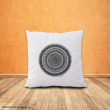 Mandala pillow,mandala pillow cover-home decor-custom pillow-housewarming gift-boho pillow-hippie pilllow-tattoo pillow-NATURA PICTA-NPCP047