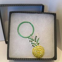 Pineapple blinged keychain