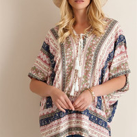 Makes Me Wonder - Printed Poncho
