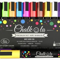 Amazon.com: Premium Chalk Markers Set of 10 neon color pens