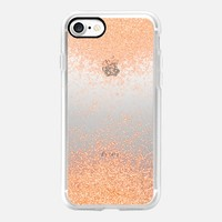 peach sparks metaluxe iPhone 7 Carcasa by Marianna | Casetify
