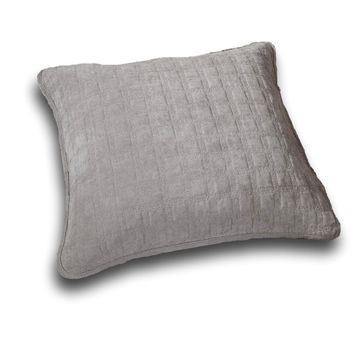 "DaDa Bedding Corduroy Sherpa Backside Soft Grey Euro Pillow Sham Cover, 26"" x 26"" (JHW858)"