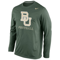 Baylor Bears Nike Legend Practice Long Sleeve Performance T-Shirt - Green