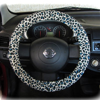 Steering wheel cover cheetah wheel car accessories Tiger turquoise