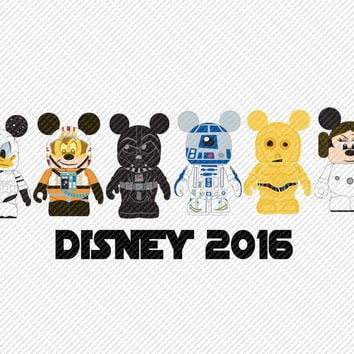 Disney 2016 Star Wars Disney Vacation Mouse Ears Printable Digital Iron On Transfer Clip Art Tshirts Instant Downl