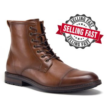 Mens High Cut Carson Vintage Military Combat Boot LIMITED TIME OFFER