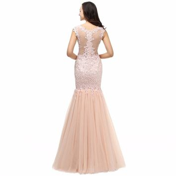 Lace Long Elegant Mermaid Prom Dresses Evening Dress for Prom