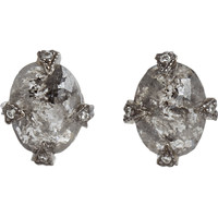 Cathy Waterman Rustic Diamond Thorn Earrings at Barneys.com