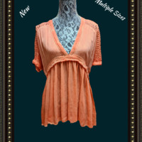 Miss Me top - beautiful design and color-.