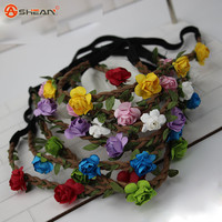 Hair Accessories Girls Headbands Rose Flowers Crown Wedding Hair Accessory Flores Headband for Women Headwear 7 Colors Available