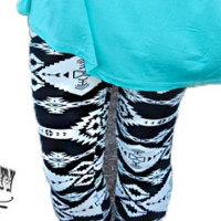 Black & White Aztec/Tribal Leggings
