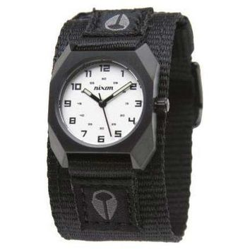 Nixon A591756 Women's Small Scout White Dial Black Nylon Strap Stainless Steel Watch