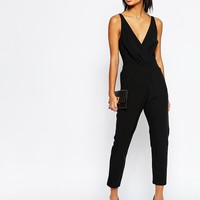ASOS Cami Wrap Jumpsuit with Peg Leg