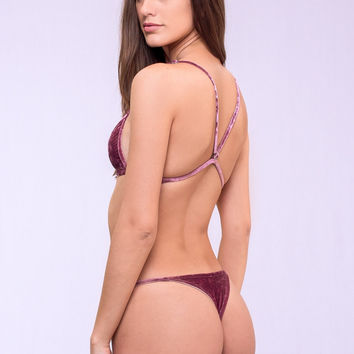 Dbrie Swim Ali Bottom - Rosequartz Velvet