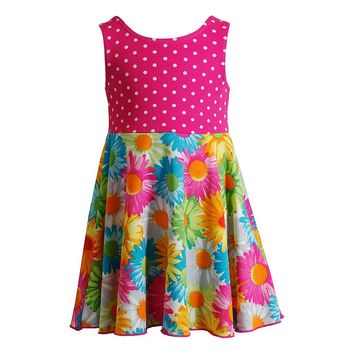Youngland Mixed Print Dress - Baby Girl, Size: