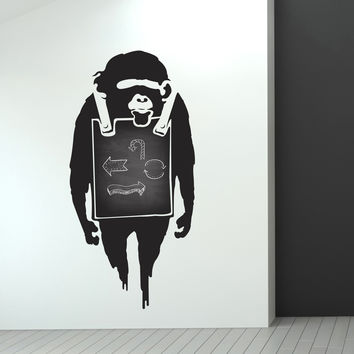 Banksy Sandwich Board Monkey Wall Decals