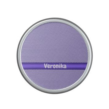 Violet small plaid pattern. Add name. Speaker