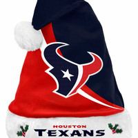 Houston Texans 2013 Swoop Logo Santa Hat