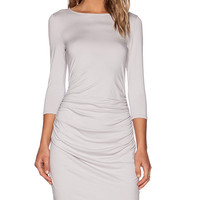 three dots Bodycon Dress in Light Gray