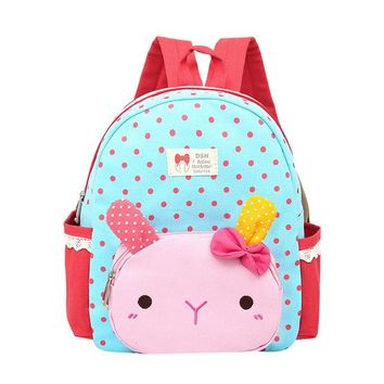 Toddler Backpack class Children Baby Girls Boys Kids Cartoon Rabbit Animal Backpack Toddler School Bag kawaii backpack mochilas AT_50_3
